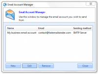 Email account manager